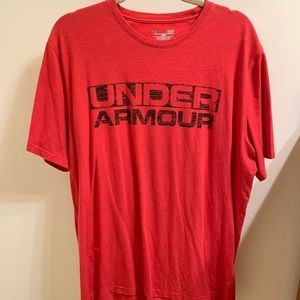 Red Underarmour Men's T-Shirt